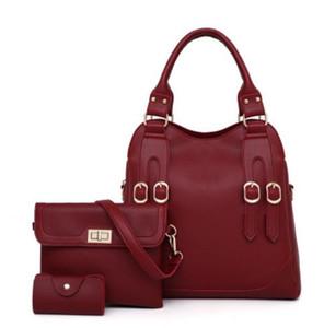 2019 Высокое качество женщин Европейская мода новый стиль ремня ИСКУССТВЕННАЯ Кожа МАТЬ И СЫН 3 комплекта сумки сумка сумка кошелек HL38