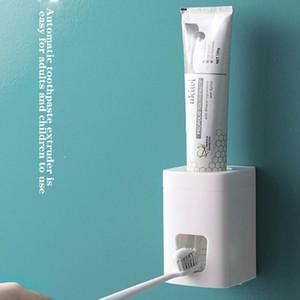 고품질 플라스틱 치약 스 퀴저 자동 치약 디스펜서 치약 홀더 랙 홈 욕실 액세서리