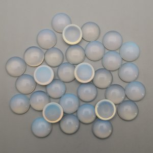 cab cabochon 10MM العقيق الحجر الطبيعي لصنع المجوهرات الدائري قلادة أقراط زينة 50Pcs / lot الحرة الشحن بالجملة