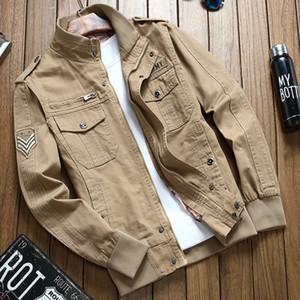 Adam Ceket Pilot Serbest Zaman İş Kıyafetleri Ceket Gençlik Will Kod Üniforma Gevşek Coat Erkek Ordusu Yeşil