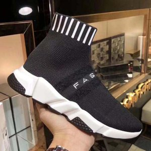 2020 New Designer Sneakers Speed Runner Fashion Shoes Sock Triple Black Boots Red Flat Trainer Men Women Casual Shoes Sport With Dust Ba a84