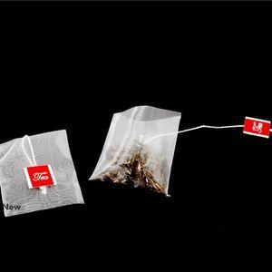 6.5 * 8cm vuoto monouso Tè con Label String Piramide Nylon filtri d'erboristeria tè infuser Filtri per Tè allentato IIA22