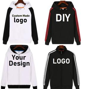 NOUVEAU Personnaliser Hoodies DIY Imprimer logo à capuche en laine Thicken Manteau Veste Sweat Wholesalers Goutte Shipper