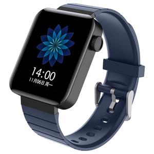 1,54 pouces Bluetooth J8 intelligent montre moniteur de fréquence cardiaque Calories Fitness Tracker 2.5D écran tactile coloré en silicone Tpu Bracelet Bracelet