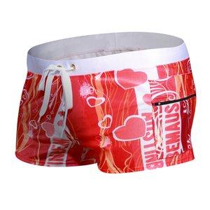 Боксер купальники мода двойной карман молния дизайн спортивные купальники мужские пляжные шорты серфинг короткий купальник мужские купальники