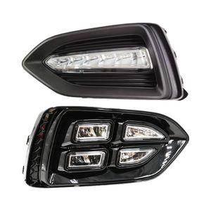1 Çifti Araba DRL Lamba Su geçirmez LED Gündüz 2017 2018 2019 Hyundai Solaris Accent İçin Işık Sis lambası kapağı Koşu
