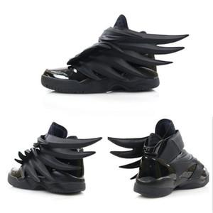 2019 Luxury Design Jeremy X Original Wings 3 .0 Triple Black Sneakers Women Mens Fashion Casual Shoes Vintage Personality Boy Girl Shoes
