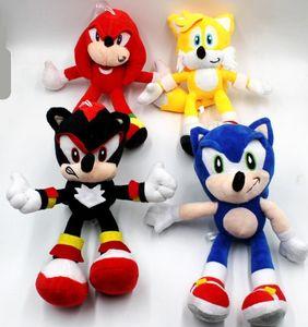 Sonic the hedgehog Sonic Tails Knuckles the Echidna Peluche con etichetta 25 cm