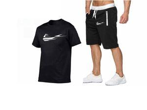 New Summer T-Shirt Men's suits Lastest 2019 Fashion Short Sleeve T-Shirt set Funny Tee Shirts O-Neck Cool Tops+Shorts