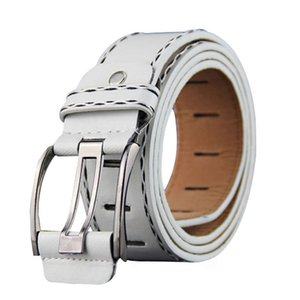 Hot selling Men belt fashion Sewing thread decoration high quality Imitation leather Alloy pin buckle belt Retro casual Men