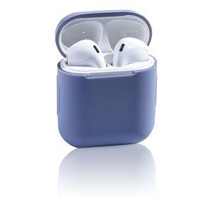 Silicone del fumetto di caso per Airpods 12 antiurto Soft Cover caramella colora la copertura di protezione auricolare Accessori per cialde Air Box Carino Portachiavi
