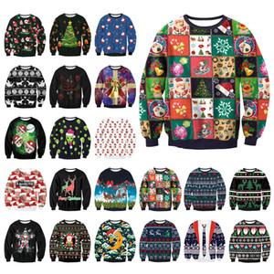Unisex Hombres Mujeres 2019 FEO suéter de la Navidad en Santa Elf mujer divertida Jerseys Tops Otoño Invierno Ropa