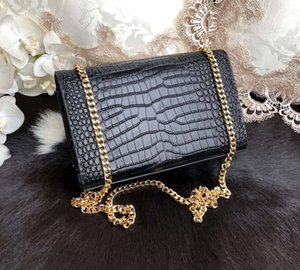 2019 le nuove borse delle donne di modo di marca di spalla la borsa a catena modello di borsa coccodrillo mini mano pacchi catena nappa