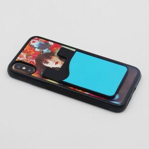 Sublimation Blank Handy-Silikon-Halter-Mobiltelefonkasten-Kartenhalter