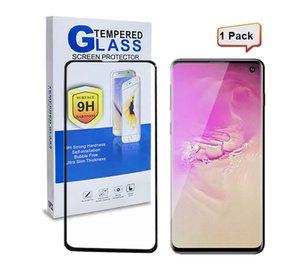 Proteggi schermo a prova di esplosione di vetro temperato a piena copertura 3D per Samsung s10Plus A8 2018 J2 Core con scatola al minuto