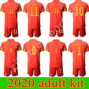 كأس اوروبا 2020 لكرة القدم الويلزية جيرسي عدة الكبار أحمر قمصان الرئيسية ALLEN JAMES RAMSEY BALE كرة القدم الكبار الرجال VOKES DAVIES BROOKS camisa ويلز