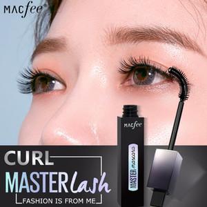 Macfee Grande Angular 4D Fibra De Seda Pestanas Mascara Maquiagem À Prova D 'Água Escova de Silicone Mascara Alongamento Mascara Mais Grosso