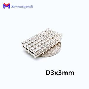 50 pcs 3 x 3 mm ímã de Ndfeb sinterizado ensino ímã D3 * 3 super forte terra rara 3x3 neodímio ímãs D3x3 mm 3 * 3 ímã