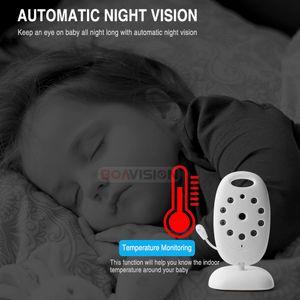 VB601 Video Baby Monitor Wireless 2.0'' LCD Babysitter 2 Way Talk Night Vision Temperature Security Nanny Camera 8 Lullabies Casecustom