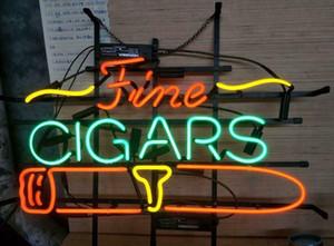 """17 """"x14"""" Cigarros finos Tienda de cigarrillos BARRA DE CERVEZA PUB PUBLICIDAD DE LA PARED LÁMPARA PUBLICIDAD NEON LIGHT SIGN"""