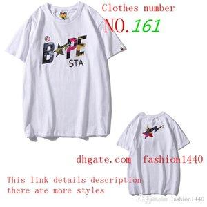 mens 2020 simios lujo Camiseta de la marca de marea alta calidad para mujer de la ropa alianza marca de diseño de manga corta con etiqueta de hip hop alfabeto A14