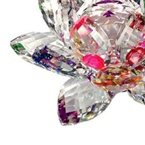 3.4 Inch Rainbow Crystal Lotus Flower With Gift Box For Feng Shui Home Decor Home Decoration Other Home Decor