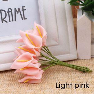 5pcs muito Branco Calla Lily Flower Man Wedding Party Groomsman do noivo Corsage Suit Men lapela Pin broche de lapela Flor Hot