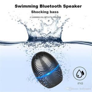 Mini huevo en forma de altavoz Bluetooth al aire libre IPX8 impermeable sin hilos de altavoz estéreo 3D de graves Sistema de sonido para la natación Ducha Baño