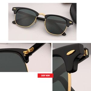 2020 Großhandel Fabrik Hochwertige klassische Designer-Sonnenbrille Frauen der Männer HD-Objektiv Driving Club Sun-Gläser UV400 Master 51mm gafas sol