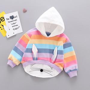 Ragazze Fashion Designer felpe di marca vendita calda bambini Rabbit Ears Felpe Bambino di lusso della banda splicing Felpe Abbigliamento 2020 Nuovo