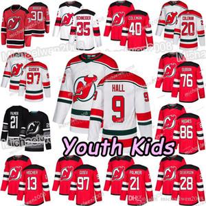 Gioventù Jack Hughes Nico Hischier New Jersey Devils P.K.Subban Kyle Palmieri Taylor Hall Cory Schneider Severson Nikita Gusev Brodeur Maglie
