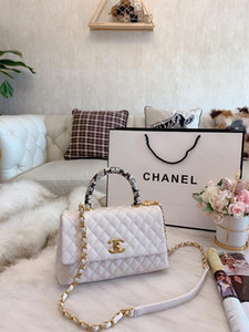 O estilo clássico cadeia senhora elegante lidar com saco saco tampa bolsa simples lazer diamante sentir confortável tamanho 25 * 16 cm2020