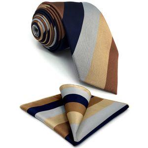 """G13 multicolor listrado mens gravatas seda moda clássico laços para homens 63 """"festa negócio hanky casamento"""
