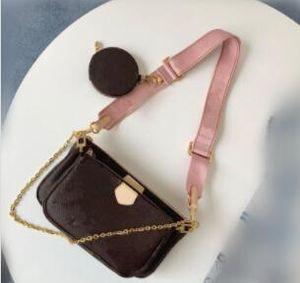 새로운 도매 여성 멀티 컬러는 크로스 바디 백에게 44840 3 개 세트 좋아하는 어깨 가방 라운드 가방 메신저 디자이너 가방 무료 배송 스트랩