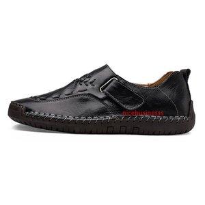 Non-Brand 2020 ручная строчка мужская повседневная обувь set foot England peas shoes кожаная мужская обувь низкий большой размер 40-44
