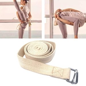 Strap Thicken Anti Slip Cotton Blend Adjustable Pilates Fitness Workouts Training Stretch With Buckle 3 Meter Yoga Belt Durable