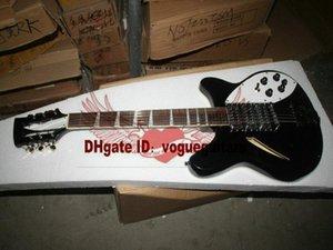 Siyah Yeni Geliş 325 330 Rick 12 Strings Elektro Gitar Yüksek Kalite En Ücretsiz Kargo
