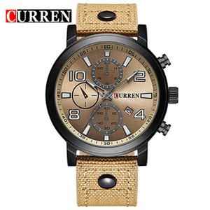 New Arrivals Big Sales Curren Carian M8199 High Quality Designers Belt Imported from Japan Quartz Movement Mens Calendar Watch Free Shipping