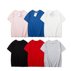 Erkek T Shirt Moda Dalga Çizgili Marka Erkekler Kadınlar Pamuk Gömlek Harf Kısa Kollu T Shirt Baskı Baskı