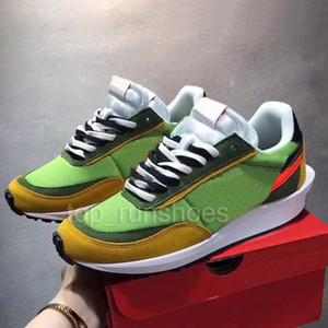 Descuento Sacai Ldv Waffle Negro Verde Azul Zapatos para hombre para mujer Runner Fashion Sneakers Designer Bowling Shoes Eur36-45
