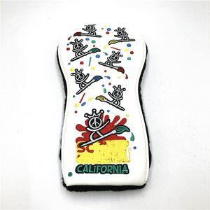 Настраиваемый дизайн белый мир Surf Golf Headcover Набор для водителя Фарватер Hybrid и клюшки