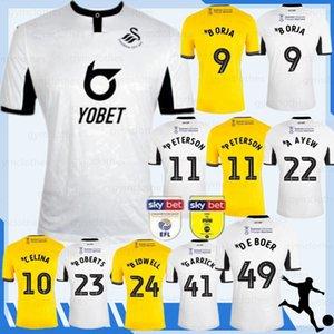 Swansea 19 de Futebol Início terceiro BORJA PETERSON PETERSON CELINA A Ayew 2019 especial 2020 camisa de edição limitada Football 20 Cidade Thai