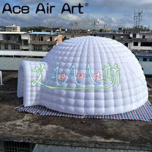 8m Durchmesser weißes Tür aufblasbares Kuppel Zelt heißen Verkauf aufblasbares Iglu für Messe