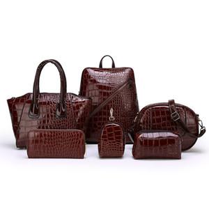 Women's bag new fashion Joer mr bag crocodile double backpack hand bill lading shoulder diagonal bag business woman designer