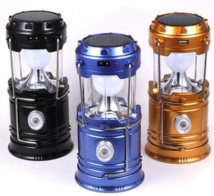 Solar lamps new Style Portable Outdoor LED Camping Lantern Solar lights Collapsible Light Outdoor Camping Hiking Super Bright led Light
