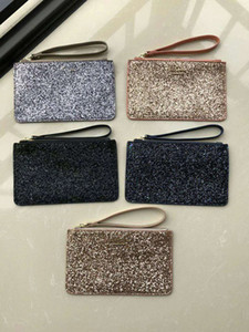 Diseñador de marca Bolsos de embrague de bolsos de lujo Estrellas de Navidad Carteras Carteras Brillantes Glitter Sparkle Coin Monederos Titulares de tarjetas para mujeres 5 colores