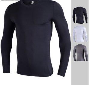 camicie funzionamento a secco mens fit abbigliamento palestra girocollo maniche lunghe yldiyo body building biancheria intima suiit polyes