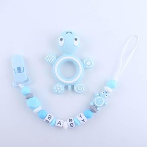New arrived Cartoon Silicone baby pacifier Newborn Pacifier clip Baby Clip Chain+teether 2pcs set Baby Feeding Products