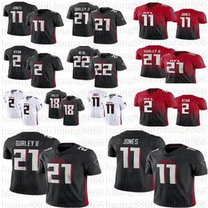 2020 nuevas mujeres de los Atlantala juventud Jersey Falcon21 Todd Gurley II 2 Matt Ryan 11 Julio Jones Ridley camiseta de fútbol Freeman