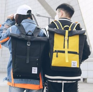 Designer-New campus nylon couple backpack BF style college student travel bag